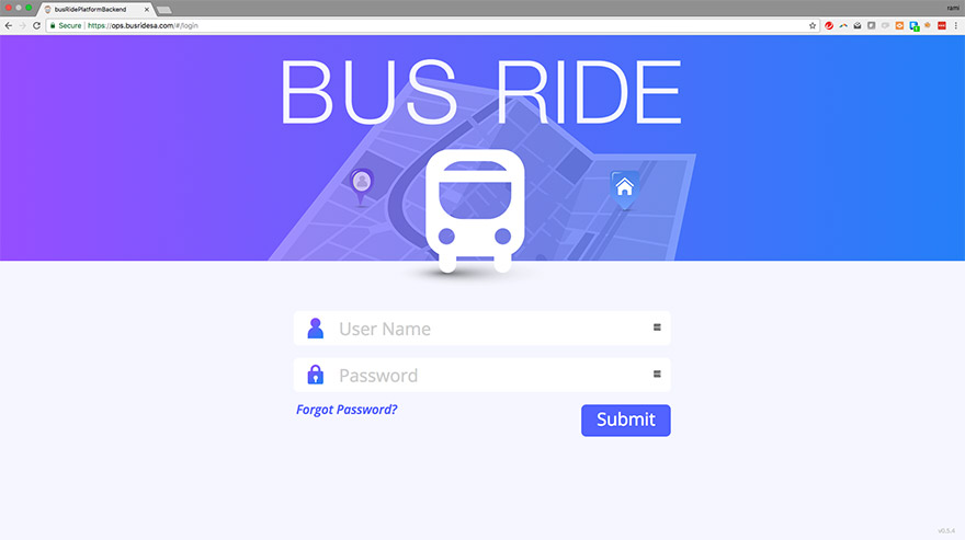 Bus Ride Management Portal